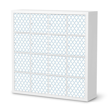 Möbelfolie IKEA Kallax Regal 16 Türen - Retro Pattern - Blau