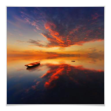Poster Krol - Ein leuchtender Sonnenuntergang - quadratisch