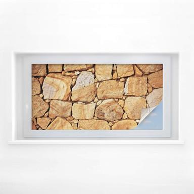 Sichtschutzfolie Mauer 03 - Panorama