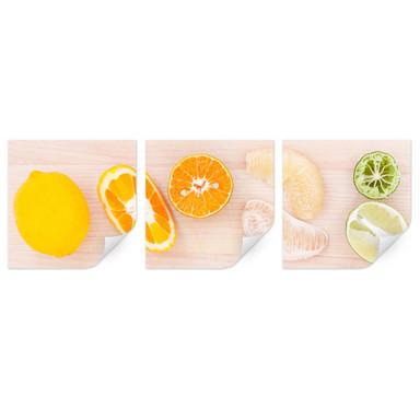 Wallprint Limonaden-Rezept (3-teilig)