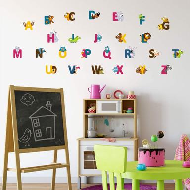 Wandtattoo Kinder Alphabet (englisch)