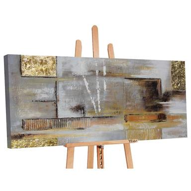 Acryl Gemälde handgemalt Goldene Abstraktion 140x70cm - Bild 1