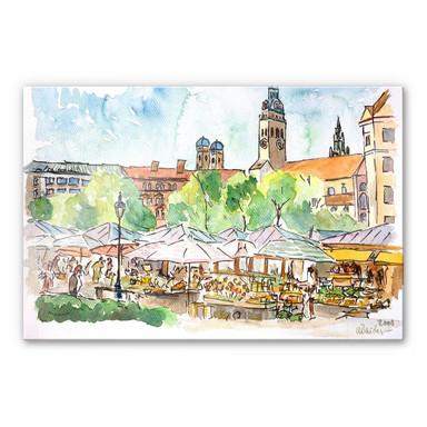 Acrylglasbild Bleichner - München - Viktualienmarkt