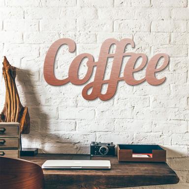 Alu-Dibond Buchstaben - Kupfereffekt - Coffee