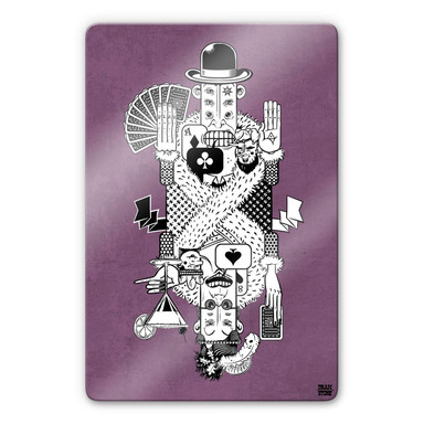 Glasbild Drawstore - Playing Cards