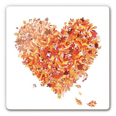 Glasbild Herbst Herz