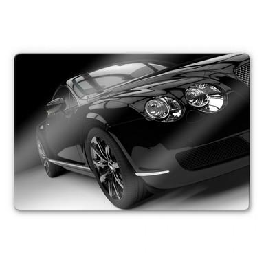 Glasbild Metallic Car Black 02
