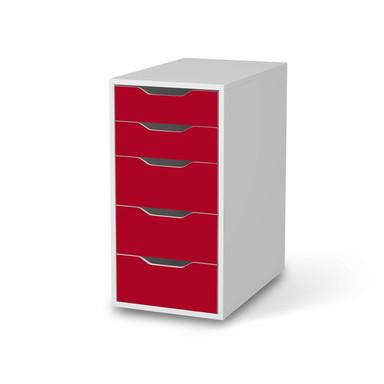 Klebefolie IKEA Alex 5 Schubladen - Rot Dark