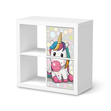 Klebefolie IKEA Expedit Regal 2 Türen (hoch) - Rainbow das Einhorn