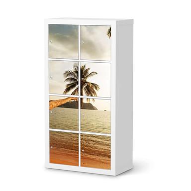 Klebefolie IKEA Expedit Regal 8 Türen - Paradise- Bild 1