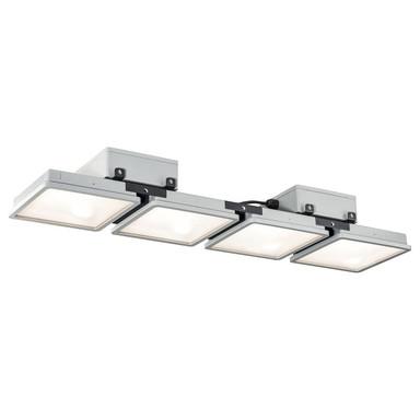 LED Wand- und Deckenleuchte Almino in Grau 4x45W 24000lm IP65