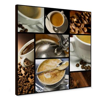 Leinwandbild Kaffee Vielfalt