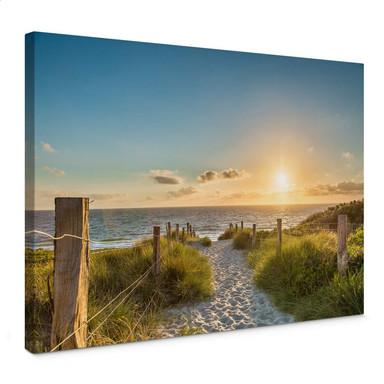 Leinwandbild Sonnenuntergang an der Ostsee