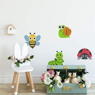 Wandtattoo Emoji Niedliche Insekten