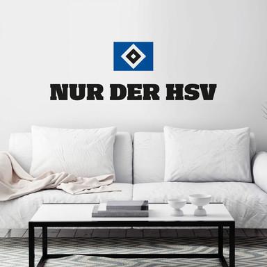 Wandtattoo Nur der HSV mit Logo