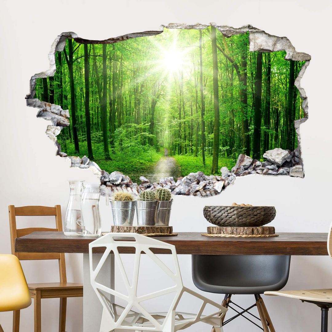 3D Wandtattoo Sunny Forest