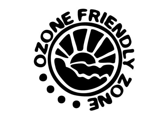 schwarz/weiss Ansicht - Wandtattoo Ozone friendly zone