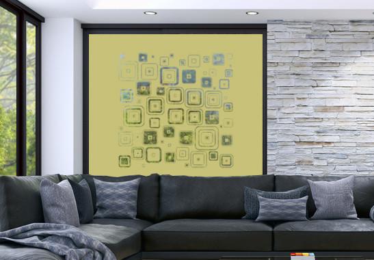 Glasdekor Retro Muster - Bild 3