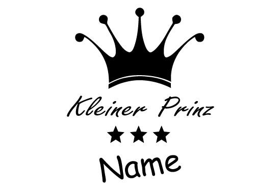 Glasdekor Wunschtext Prinz - Bild 6