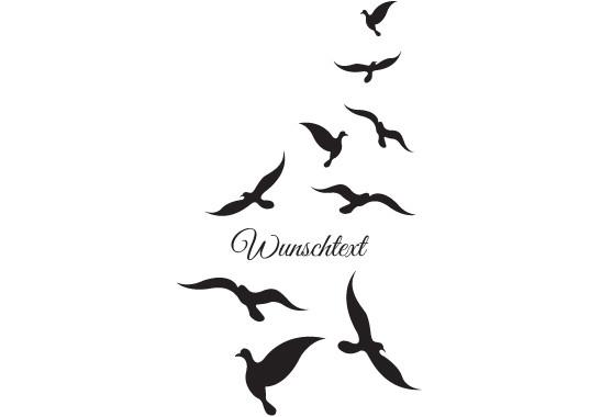 Glasdekor Wunschtext Vogelschwarm - Bild 6