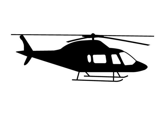 schwarz/weiss Ansicht - Wandtattoo Helikopter