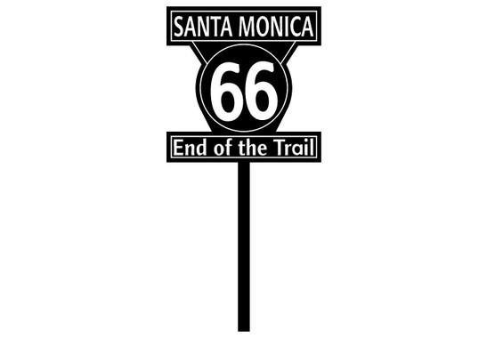 schwarz/weiss Ansicht - Wandtattoo Santa Monica