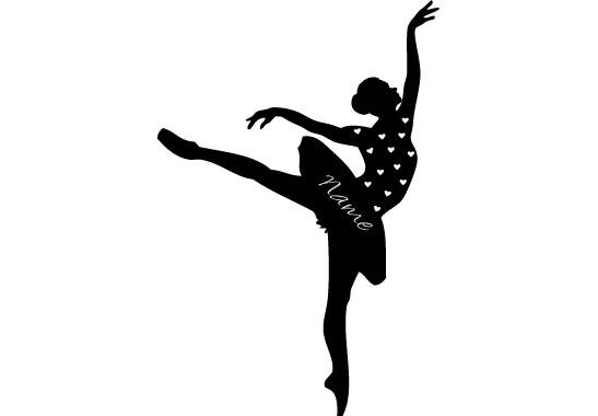 Glasdekor Wunschtext Ballett Tänzerin - Bild 6