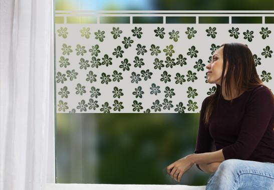 Glasdekor Blümchen Gardine - Bild 2