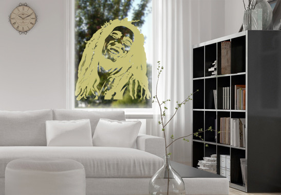 Glasdekor Bob Marley - Bild 3