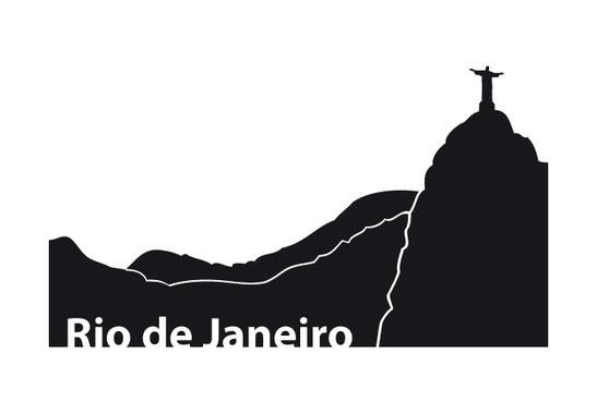 schwarz/weiss Ansicht - Wandtattoo Rio de Janero
