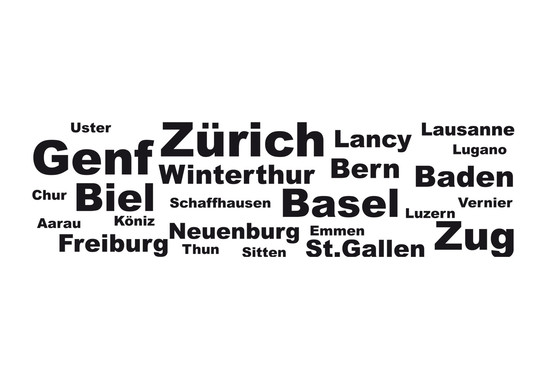 Wandtattoo Switzerland Cities - Bild 2