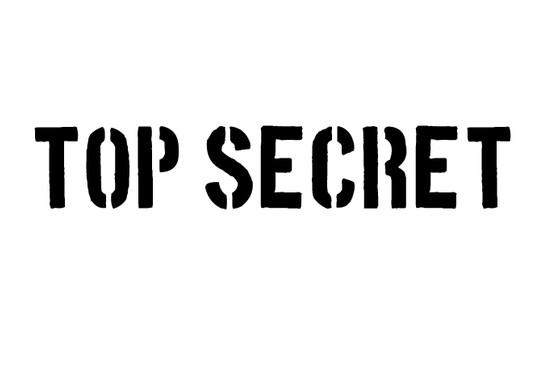 schwarz/weiss Ansicht - Wandtattoo Top Secret