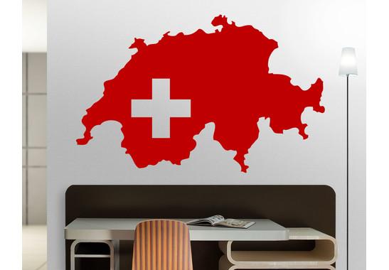 Wandtattoo Schweizer Karte