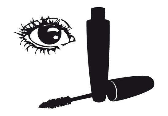 schwarz/weiss Ansicht - Wandtattoo Makeup Eye