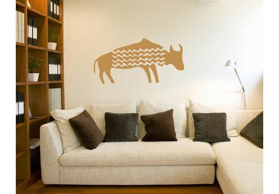Wandtattoo Primitive Art Wasserbüffel