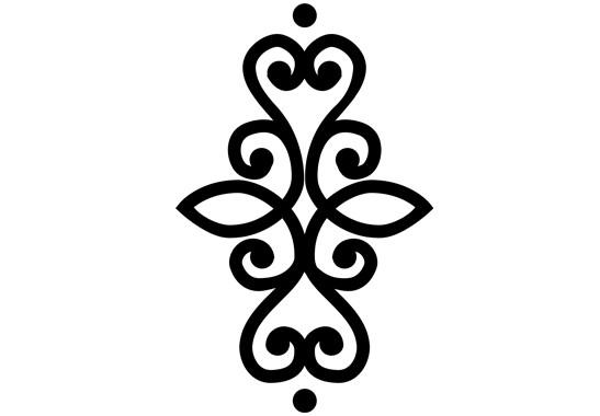 Glasdekor Indisches Ornament - Bild 6