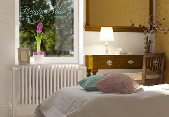 Glasdekor Wunschtext Beauty Salon - Bild 5