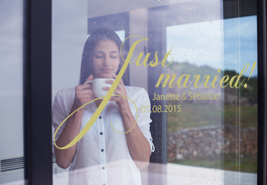 Glasdekor Wunschtext Just Married - Bild 3