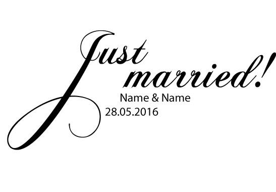 Glasdekor Wunschtext Just Married - Bild 6