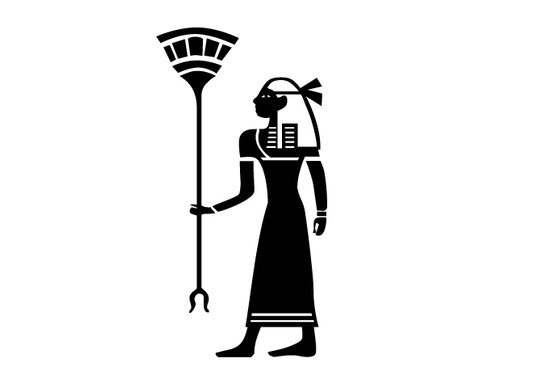 schwarz/weiss Ansicht - Wandtattoo Kleopatras Dienerin