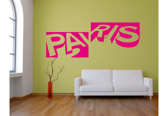 Wandtattoo Paris Letters