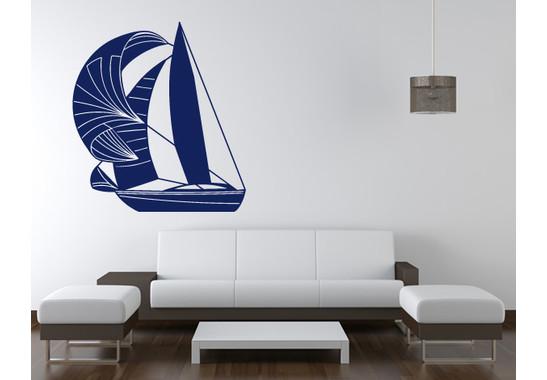 Wandtattoo Segelboot
