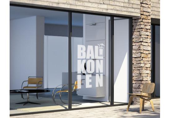 Glasdekor Balkonien