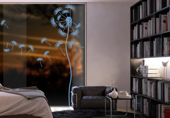 Glasdekor Löwenzahnblume