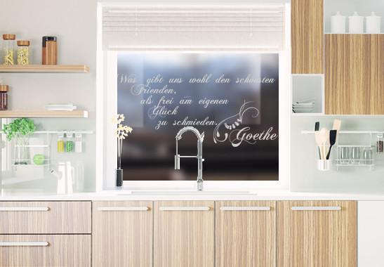 Glasdekor Goethe Zitat - Bild 2
