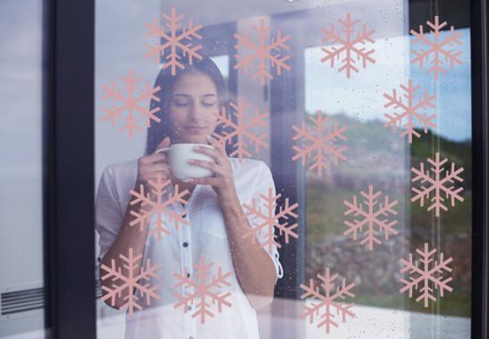 Glasdekor Schneeflöckchen Set - Bild 4