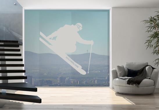 Glasdekor Wunschtext Skispringer - Bild 2