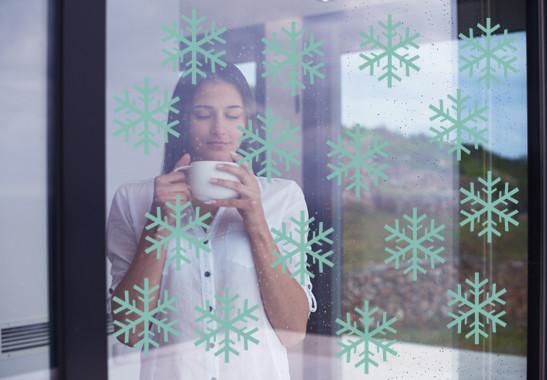 Glasdekor Schneeflöckchen Set - Bild 5