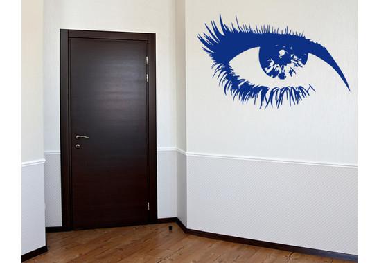 Wohnansicht - Wandtattoo Auge