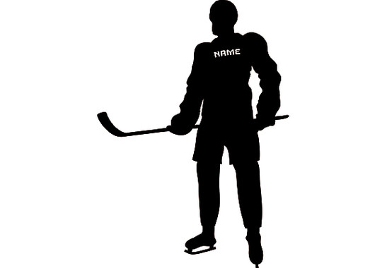 Das gesamte Produkt  - Wandtattoo Wunschtext Eishockey